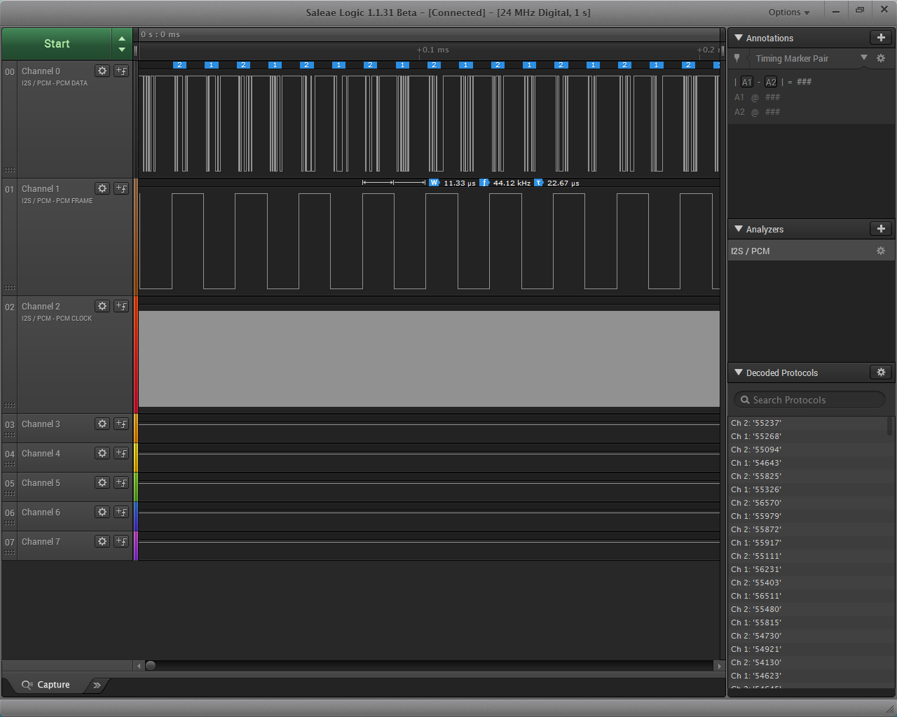 logic analyzer 7